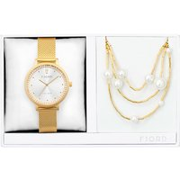 Fjord Ladies Birger Watch with Milanese Strap and Necklace Gift Set