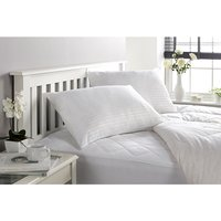 Downland Soft To Touch Satin Stripe Anti Bacterial King 10.5 Tog Duvet and Pillow (Pair)