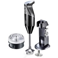 Bamix Handheld Blender with Deluxe Stand, Whisk, Food Processor, Beater, Multipurpose Blade Attachments