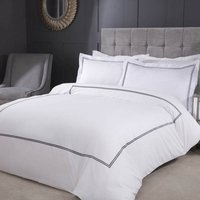 Mayfair Embroidered Double Duvet Set with Oxford Pillowcases