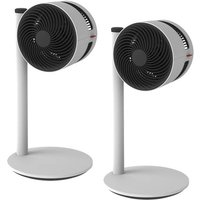 Twin Pack of Boneco F120 Pedestal Air Showering Fan with 3 Speeds