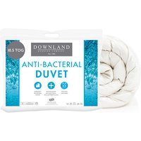 Downland Soft To Touch Satin Stripe Anti Bacterial 10.5 Tog Duvet (Double)