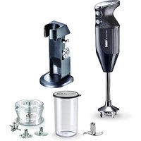 Bamix Deluxe with 4 x Blades, Dry Grinder and Stand and 400ml Beaker with Lid