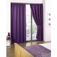 Cali Blackout Contemporary Pencil Pleat Tape Header Curtains - 66 Inches