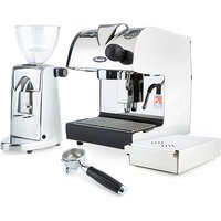 Piccino Electronic Espresso Machine Bundle in Stainless Steel