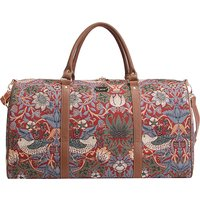 Signare Holdall-Strawberry Thief Red