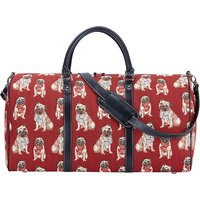 Signare Big Holdall - Pug with Strap