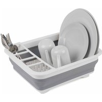 Beldray Grey Collapsible Dish Draining Board - Washing up Bowl and Cutlery Divider