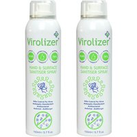Virolizer Hand and Surface Sanitiser Spray (70% alcohol) - Twin Pack