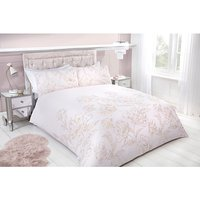Metallic Floral Single Duvet Set