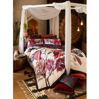 Joe Browns Floral Elephant Reverse Duvet Cover Set - King - Plum Multi