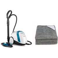 Polti Vaporetto Smart 100B Steam Cleaner with Pack of 5 Grey Cloths