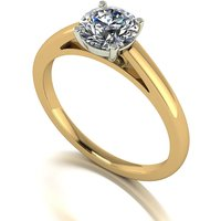Lady Lynsey Moissanite 9ct Gold 1.00ct eq Solitaire Ring