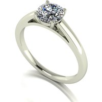Lady Lynsey Moissanite 9ct White Gold 1.00ct eq Solitaire Ring