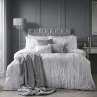 By Caprice Home - Shirley - Metallic Stripe King Duvet Cover Set - Ivory