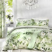 Dreams and Drapes - Florence - Easy Care Single Duvet Cover Set - Green