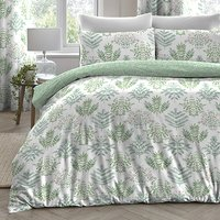Dreams and Drapes - Emily  Easy Care Double Duvet Cover Set Green or Natural