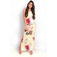 IKRUSHIKRUSH Womens Brianna Floral Slit Side Maxi Dress