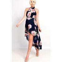 IKRUSHIKRUSH Womens Adora High Neck Floaty Floral Maxi Dress
