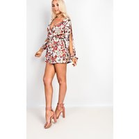 IKRUSHIKRUSH Womens Harriett Floral Cut Out Playsuit