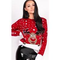 IKRUSHIKRUSH Womens Noel Oversized Slogan Christmas Jumper