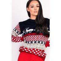 IKRUSHIKRUSH Womens FiFi Oversized Christmas Jumper