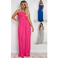 IKRUSHIKRUSH Womens Sabrina Ruched Maxi Dress