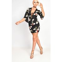 IKRUSHIKRUSH Womens Piper Lace Up Floral Dress