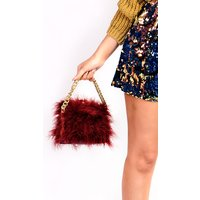 IKRUSH Womens Lyla Feather Shoulder Bag, Maroon