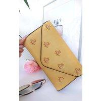 IKRUSH Womens Chlo Bee Embellished Envelope Clutch Bag