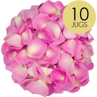 10 Jugs of Pink Rose Petals