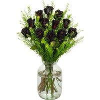 12 Black Roses