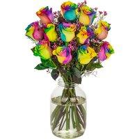 12 Happy Rainbow Roses