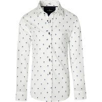 Dit leuke witte overhemd met dessin van jac hensen is speciaal voor kids. dit model heeft een contraststof in ...