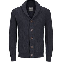JACK & JONES Klassischer Strick-cardigan Herren Blau