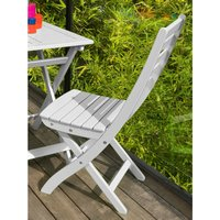 Proloisirs Chaise de jardin pliante Balcon blanc