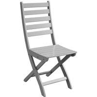 Proloisirs Chaise de jardin pliante Balcon gris