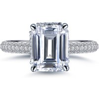 Labyrinth Diamonds 14K White Gold Hidden Halo Solitaire