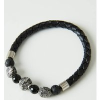 Mens Bead And Stone Bracelet.