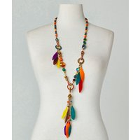 Far Away Sands Feather Necklace.