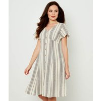 Linen Mix Stripe Dress