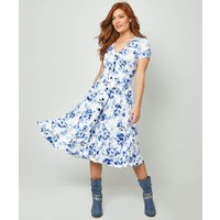 Flattering Button Through Dress