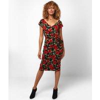 Rose Wrap Top Dress