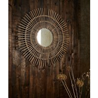 Escape To Africa Wicker Circle Mirror at Joe Browns