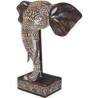 African Elephant Head Bust.