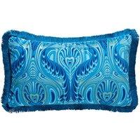 Fabulous Nouveau Peacock Fringe Cushion.