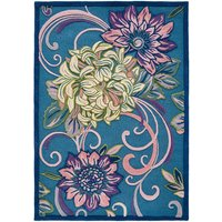 Fabulous Floral Wool Tufted Rug.