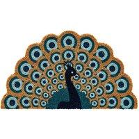 Perfect Peacock Shaped Doormat.