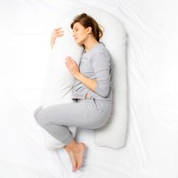 Kally U-Shaped Pregnancy Pillow-White