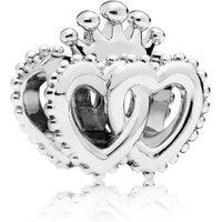 Pandora 797670 Charm United Regal Hearts Gekrönte Herzen Silber